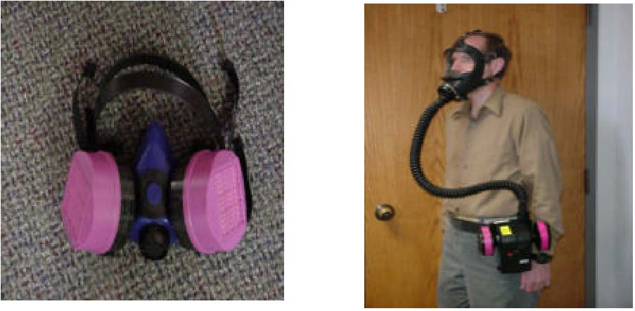 Half mast air-purifying respirator/Powered air purifying respirator