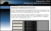 Ergonomics: Solutions for Electrical Contractors