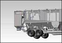 A conceptual example of a baghouse assembly on the back of a truck. Image credit: NOV Appco