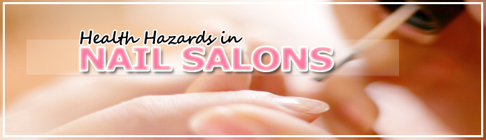 Home - Health Hazards in Nail Salons - Copyright WARNING: Not all materials on this Web site were created by the federal government. Some content � including both images and text � may be the copyrighted property of others and used by the DOL under a license. Such content generally is accompanied by a copyright notice. It is your responsibility to obtain any necessary permission from the owner's of such material prior to making use of it. You may contact the DOL for details on specific content, but we cannot guarantee the copyright status of such items. Please consult the U.S. Copyright Office at the Library of Congress � http://www.copyright.gov � to search for copyrighted materials.