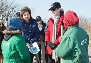 Secretary Solis at Staten Island