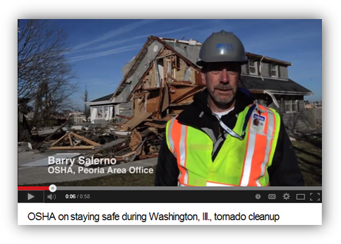 OSHA on Staying Safe during Washington, Ill., Tornado Cleanup