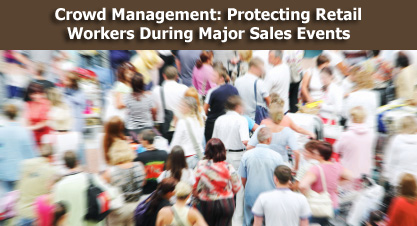 image of a large crowd - Crown Management: Protecting Retail workers during Major sales event