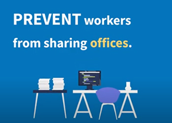 Prevent workers from sharing offices