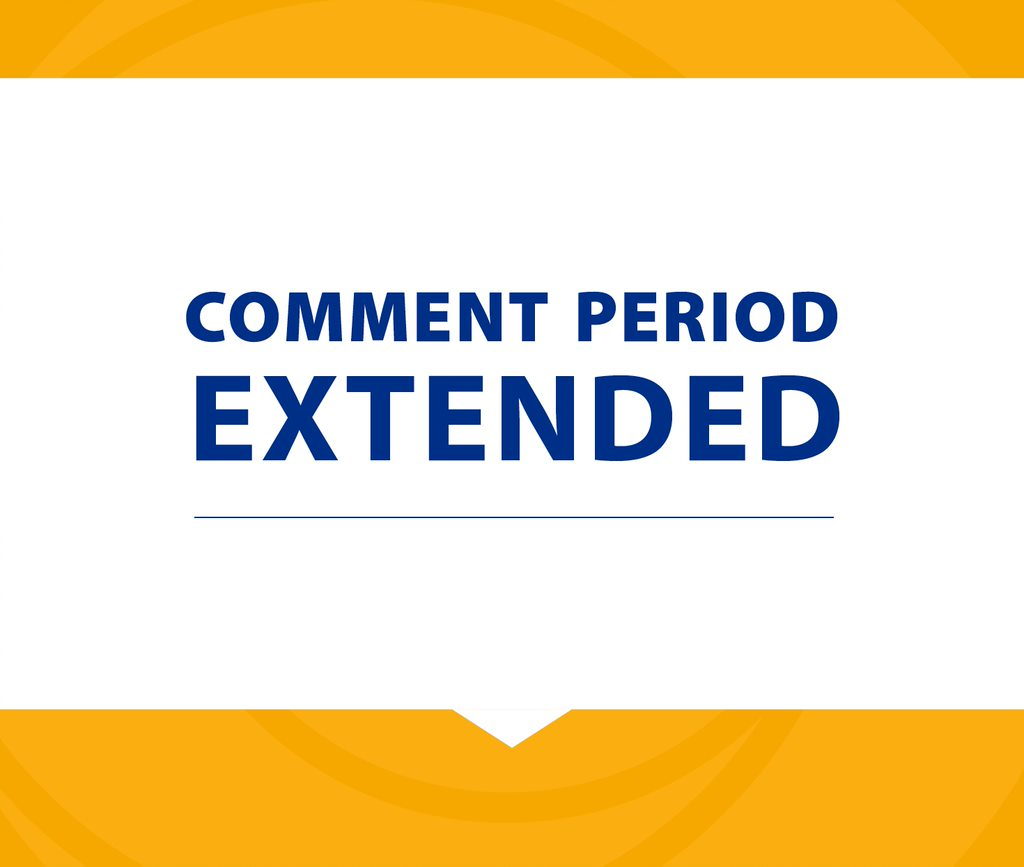 Comment Period Extended