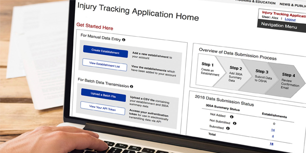 Injury Tracking Application (ITA) - Electronic Submission of Injury and Illness Records to OSHA | Image copyright: iStock - Ridofranz