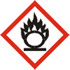 Flame Over Circle Pictogram