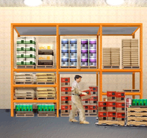Illustration: grocery pallets