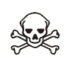 Skull and Crossbones Pictogram