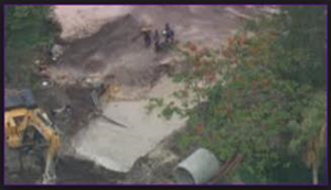 The City of Weston work site where an employee of Ric-Man International died while conducting underwater construction activities on June 10, 2014.  Courtesy of NBC6 South Florida