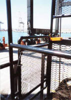 Personnel platform with locking gate