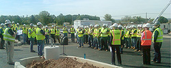 Welcome remarks and student safety briefing at Youth Safety in Construction Day.