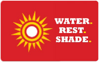 Water, rest and shade