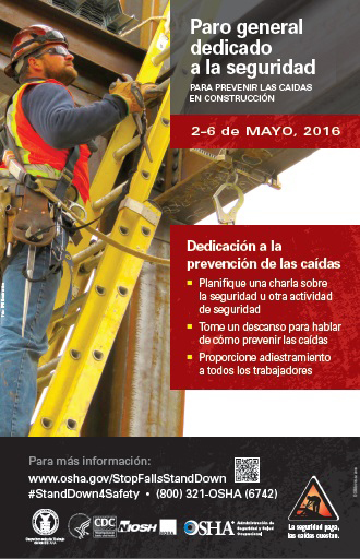 Paro general dedicado a la seguridad PARA PREVENIR LAS CAIDAS EN CONSTRUCCIóN 2-6 de MAYO, 2016 | Photo Credit: LPR Construction | Copyright: LPR Construction