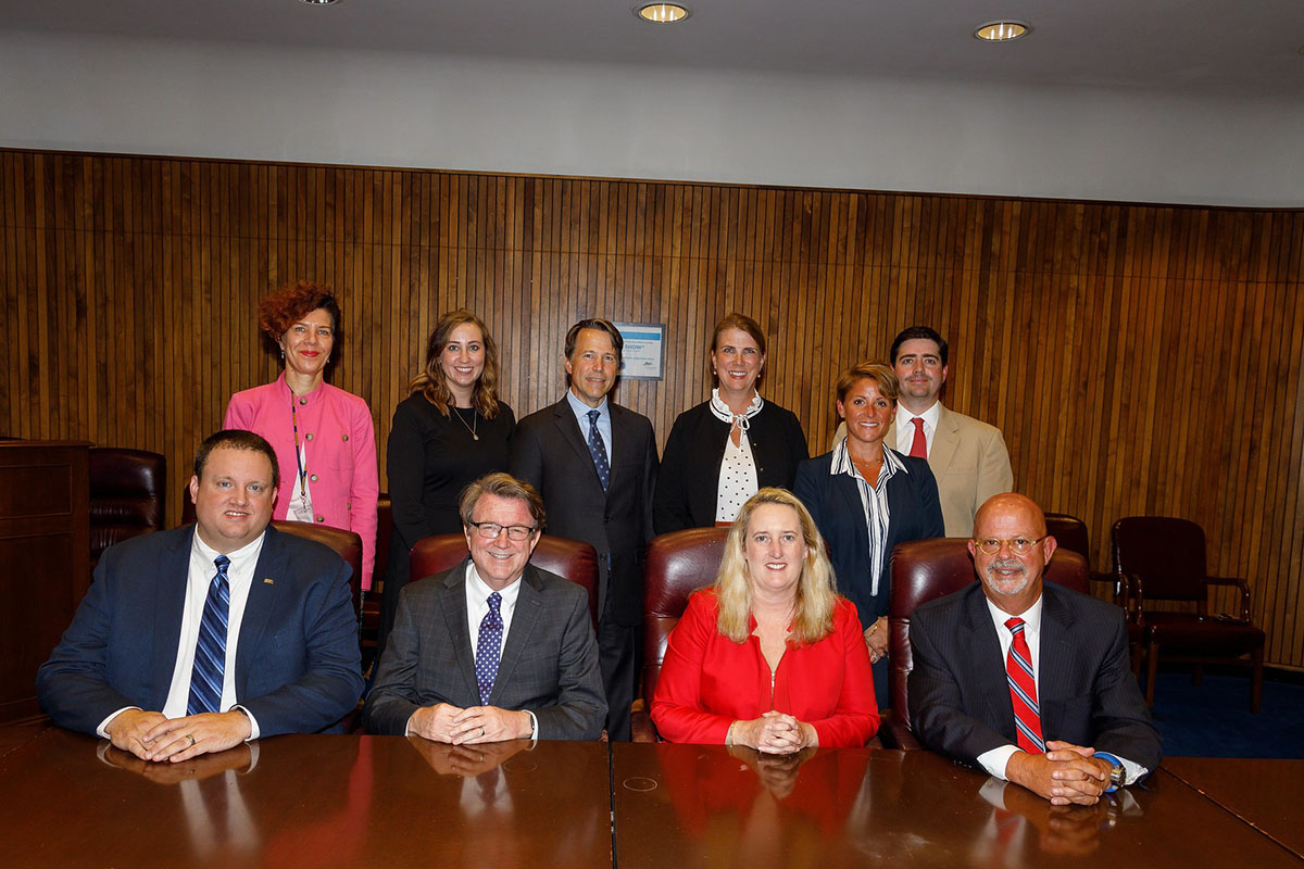 Principle Deputy Assistant Secretary Loren Sweatt, USDOL-OSHA (seated, center), with representatives of USPPOULTY, NCC, NTF, and OSHA at the Alliance signing ceremony on September 4, 2019.