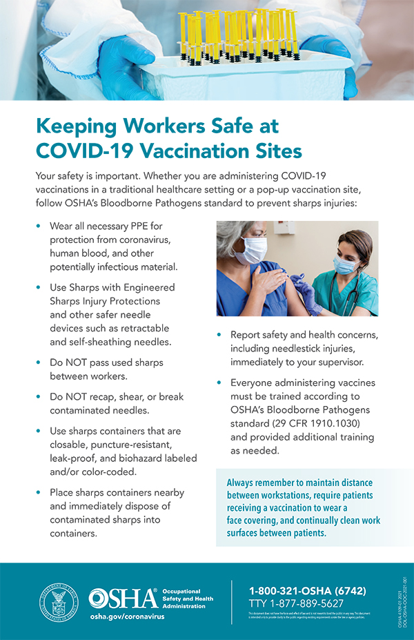Keeping Workers Safe at COVID-19 Vaccination Sites