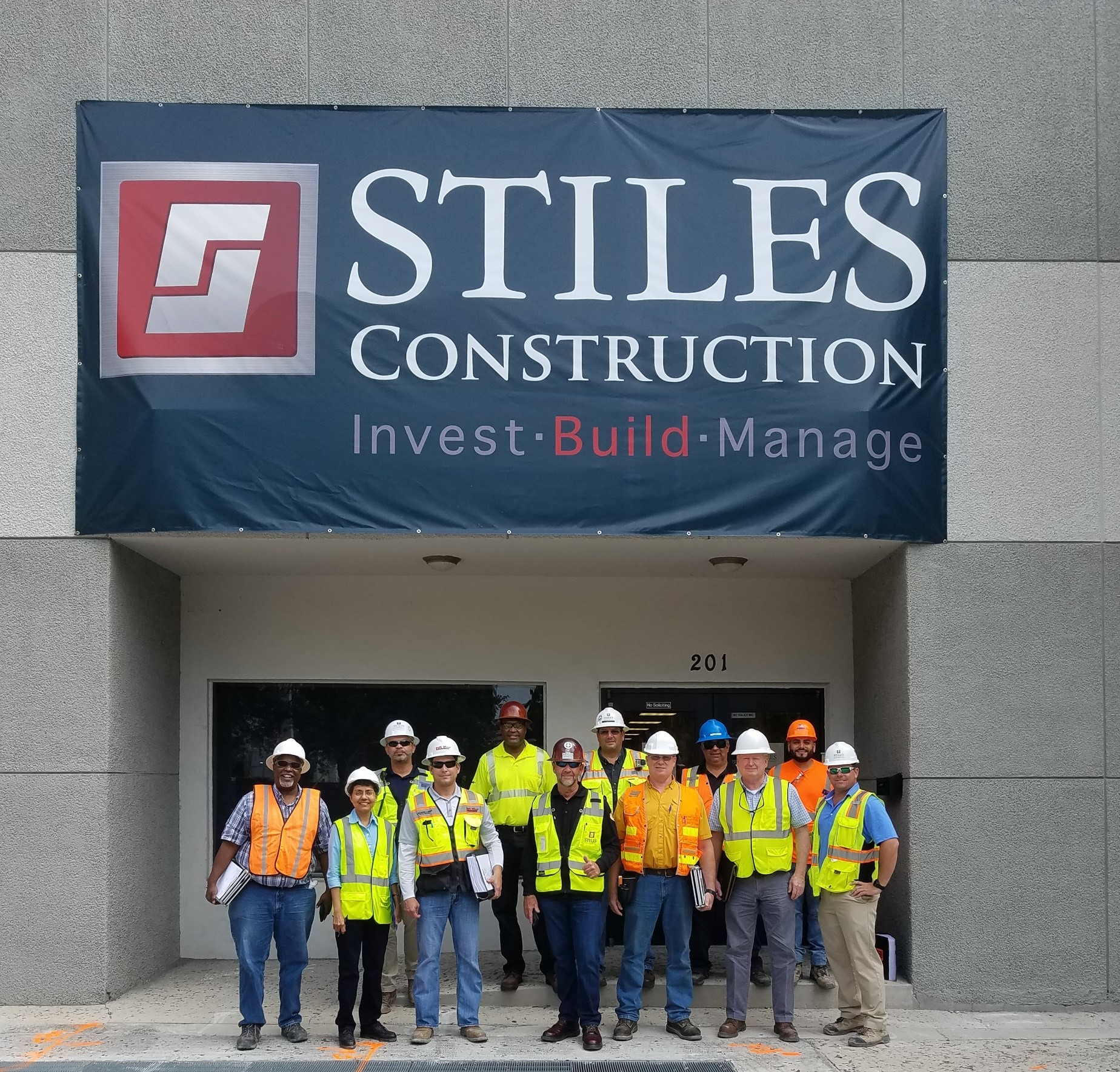 USF SafetyFlorida Management Staff and Stiles Construction Team
