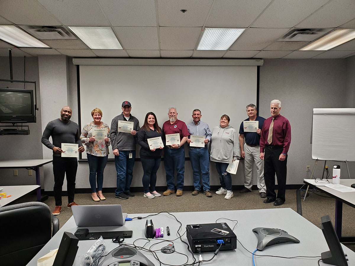 SGE training course conducted April, 2019 hosted by Avery Dennison, in Painesville, OH.