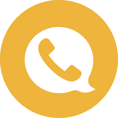 Phone in a speech bubble icon