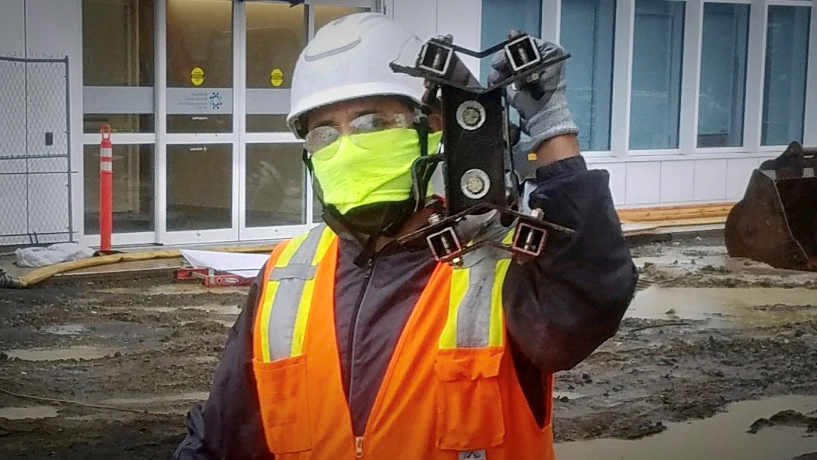 Construction worker with PPE | Photo Credit: Courtesy of Turner Construction