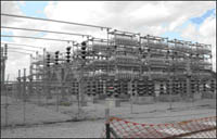 Power distribution: substation