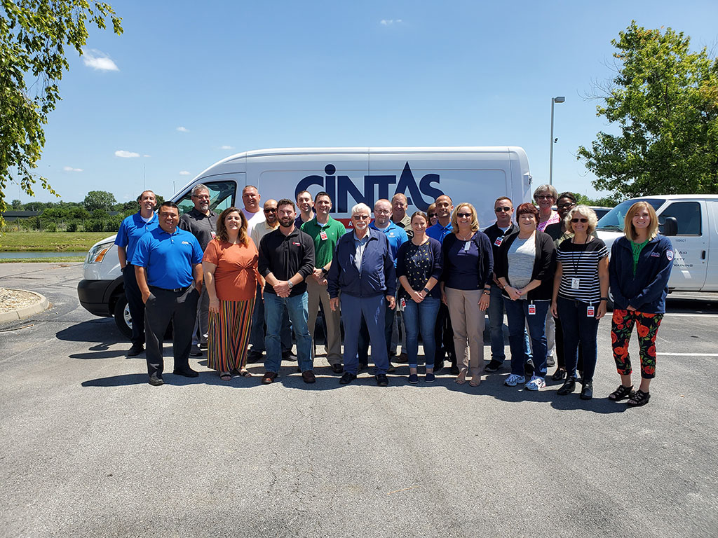 SGE training course conducted July, 2019 hosted by Cintas Corporation Location 388, in Indianapolis, Indiana.