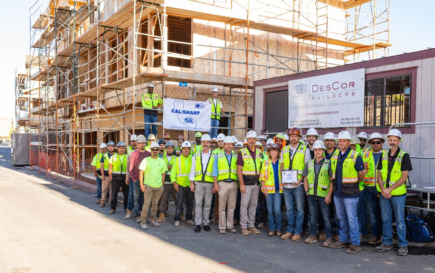 DesCor Builders Makes Worker Safety #1 Priority and Achieves SHARP Status