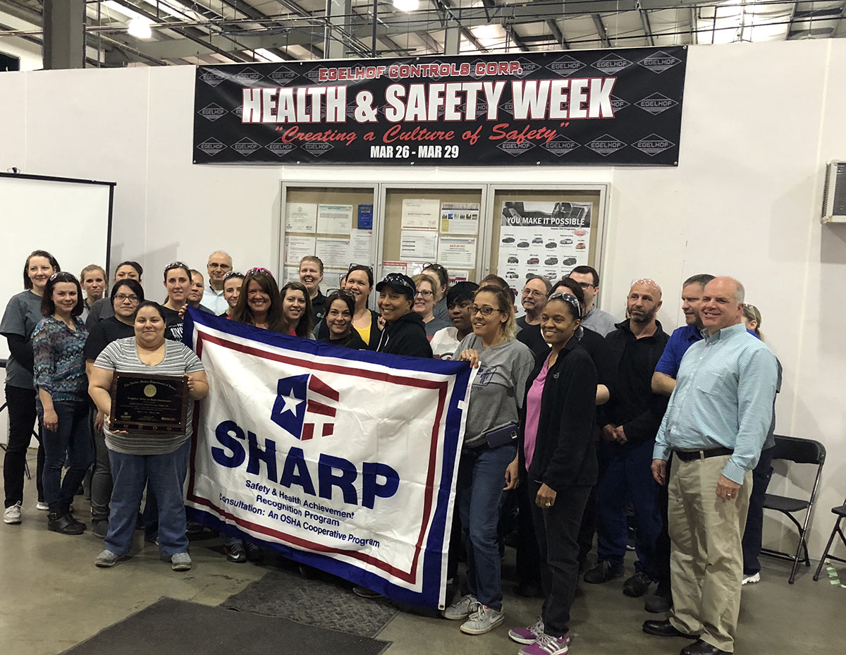 Egelhof Team Celebrates Earning OSHA SHARP Designation