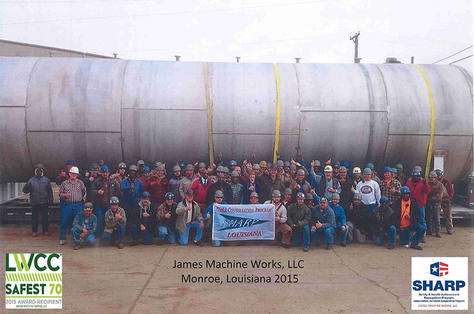 James Machine Works Team with SHARP Flag, Monroe, Louisiana (2015)