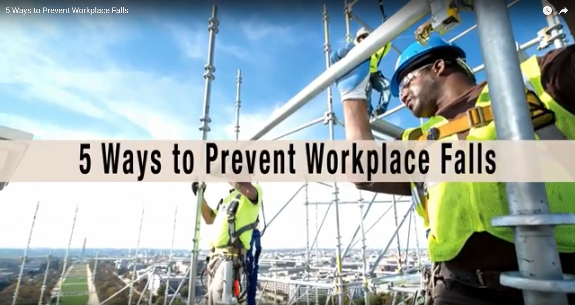 5 Ways to Prevent Workplace Falls