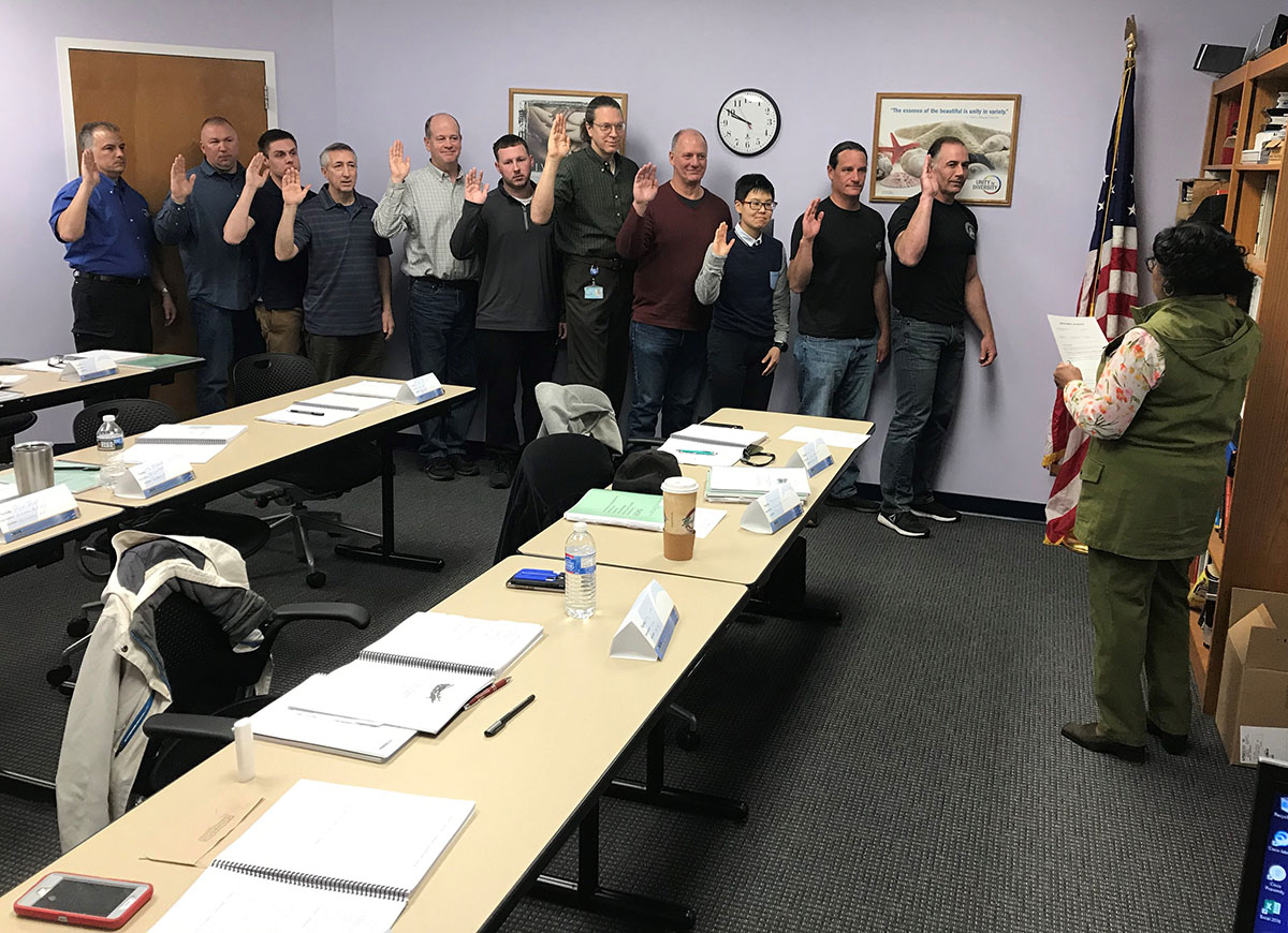 SGE training course conducted April, 2019 hosted by OSHA Marlton Area Office, in Marlton, NJ.