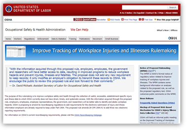 Improve Tracking of Workplace Injuries and Illnesses Rulemaking