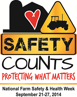 SAFETY COUNTS. PROTECTING WHAT MATTERS. National Farm Safety & Health Week September 21-27, 2014