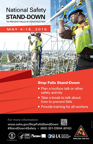 National Safety STAND-DOWN, To Prevent Falls in Construction