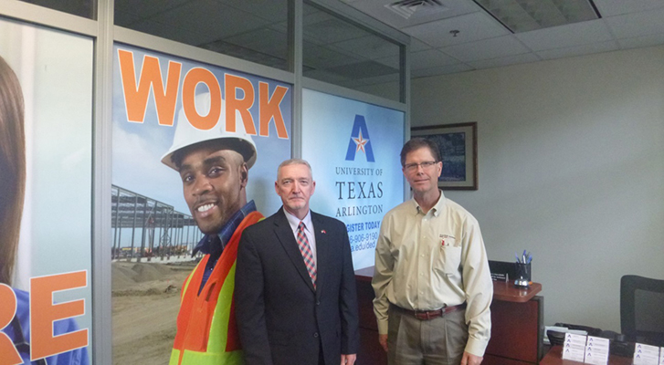 At the University of Texas at Arlington; Jack Rector, OSHA's area Director in Fort Worth met Russell Payton, North Texas Exploration & Production Safety Network to discuss ideas on how to save more lives in the Oil and Gas in North Texas| Photo Credit: OSHA | Copyright: Public Domain