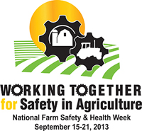 Working Together for Safety in Agriculture - National Farm Safety and Health Week September 15-21, 2013