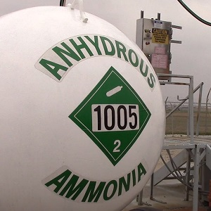 Photograph of Anhydrous Ammonia container
