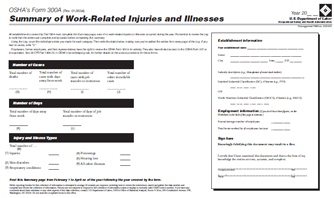 Injury & Illness form