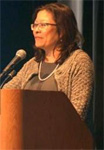 Director of OFCCP Patricia Shiu gives her keynote address at the AAPI Worker Protection Summit in Flushing, N.Y.