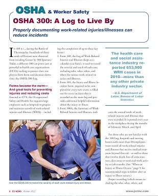 article calls OSHA 300 'A Log to Live By'