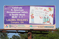 A billboard in Conyers, Ga., displays a winning entry from the Poster Contest.