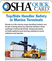 Top/Side Handler Safety in Marine Terminals QuickCard