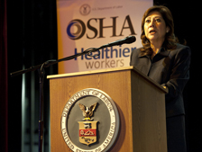 Secretary of Labor Hilda L. Solis at Action Summit for Worker Safety and Health