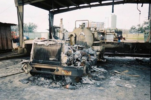 Three workers were killed and four injured in a fire resulting from a runaway diesel engine (Source: Chemical Safety Board)