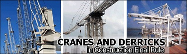 cranes and derricks final rule