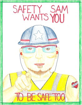 ASSE Safety on the Job poster contest winner