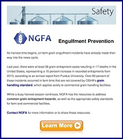 NGFA grain engulfment safety alert