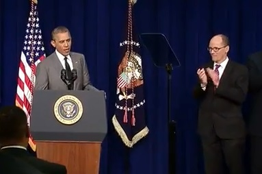 President Obama and Labor Secretary Perez