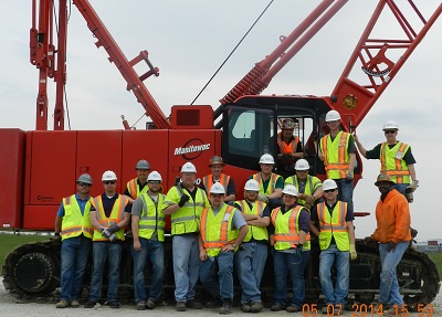 Region 5 OSHA inspectors receive crane operation training from International Union of Operating Engineers Local 150