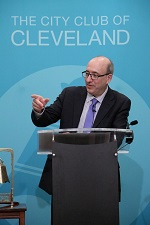 Dr. David Michaels addresses the City Club of Cleveland.